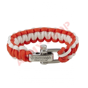 PENTAGON PARACORD 2.0 apyrankė, RED/WHITE